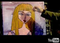 Charles Kaufman, art, video,painting,youtube
