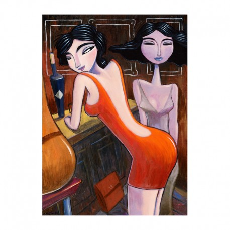 "Giclée Print on Canvas: ""Night Life"""