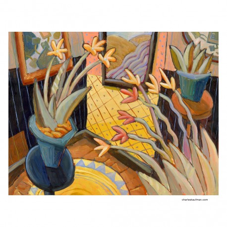 "Giclée-Druck auf Leinwand: ""Plants in a Room"""