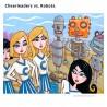 "Giclée-Druck auf Leinwand: ""Cheerleaders vs. Robots"""