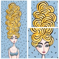 """3D Grafik: """"Woman with Big Hair"""""""