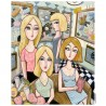 "Giclée Print on Canvas: ""Four Women and the Art Museum"""