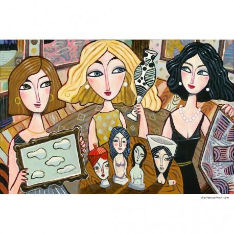 "Giclée-Druck auf Leinwand: ""The Art Collectors"""