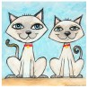 "3D Grafik: ""Two Siamese Cats"""