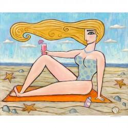 """Gemälde: """"At the Beach"""""""