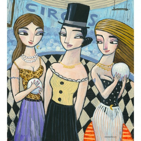 "Painting: ""Circus Fortune Tellers"""