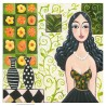 "Giclée Print on Canvas: ""Woman with Long Black Hair"""