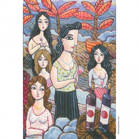 "Painting: ""Wine in the Garden"""