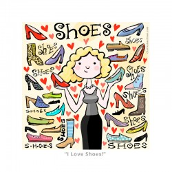 "3D Graphic: ""I Love Shoes!"""