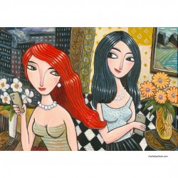 """Painting: """"Two Women in a Hotel"""""""