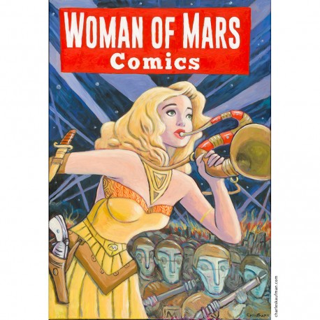 "Painting: "" ""Woman of Mars Comics"""""