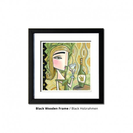 "3D Grafik: ""Woman with White Wine"""
