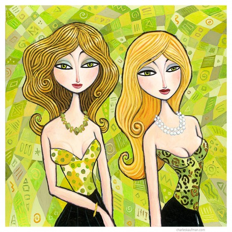 "Giclée Print on Canvas: ""Blonde and Green"""