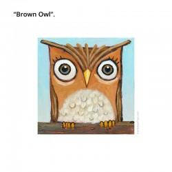 "3D Grafik: ""Brown Owl"""