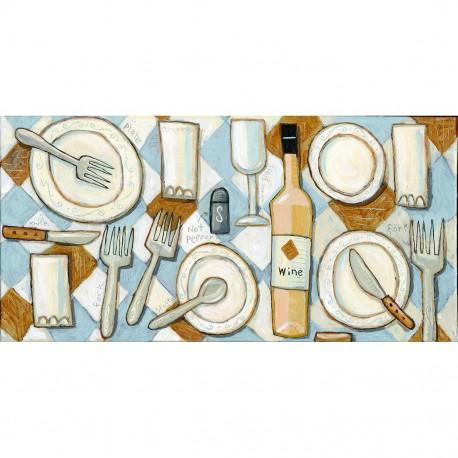"Giclée Print on Canvas: ""Setting the Table"""