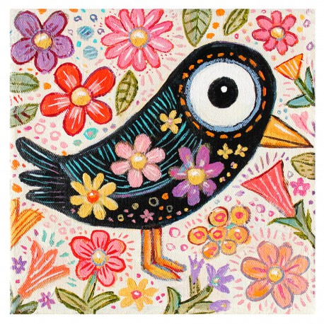 """3D Graphic: """"Bird with Flowers"""""""