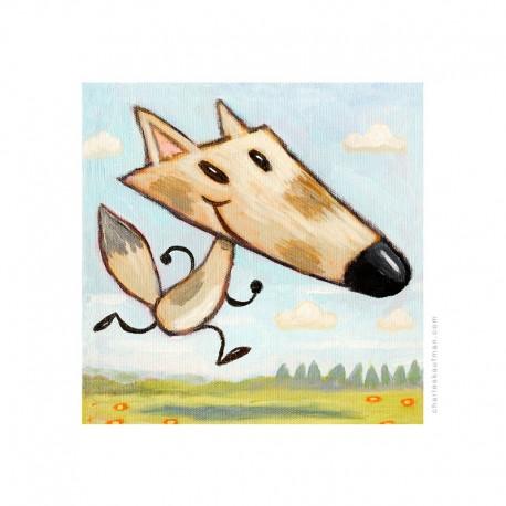 "3D Graphic: ""Happy Running Fox"""