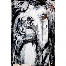 "Painting by Yasmina S: ""Feliĉo (Happiness)"""