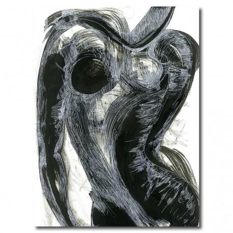 "Giclée Print on Canvas by Yasmina S: ""Kurboj""(Curves)"