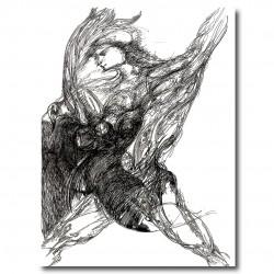 "Giclée-Druck auf Leinwand: by Yasmina S: ""Pasio"" (Leidenschaft)."