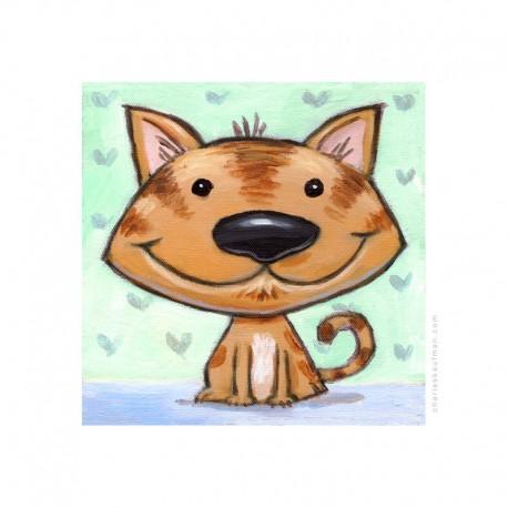 "3D Graphic: ""Happy Brown Cat"""