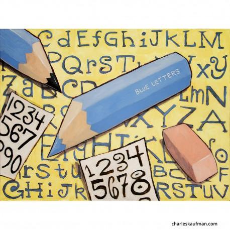 """3D Graphic: """"Blue Pencils"""""""