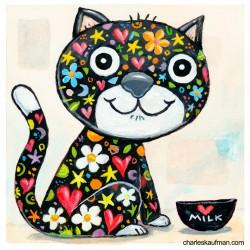 "3D Graphic: ""Colorful Black Cat"""