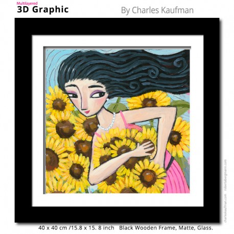 "3D Graphic: ""Picking Sunflowers"""