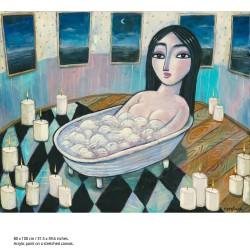 """Giclée Print on Canvas: """"Bath"""""""