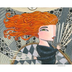 """Giclée Print on Canvas: """"Woman with Red Hair"""""""