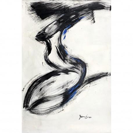 """Gemälde von Yasmina S: """"Flugado"""" (Fliegen)"""