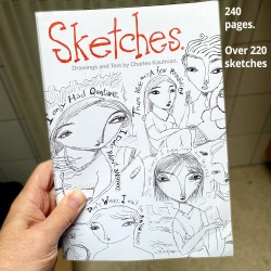 """Book: """"Sketches"""" 240 pages"""