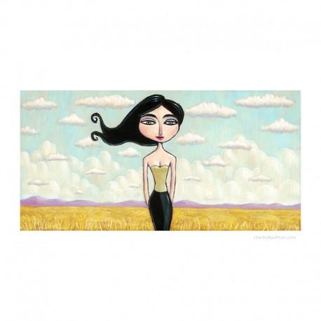 """3D Grafik: """"Woman in a Field"""""""