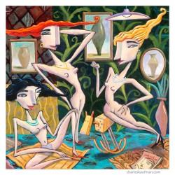 "Giclée Print on Canvas: ""The Dressing Room"""