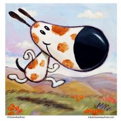 "3D Graphic: ""Happy Running Dog"""