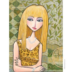 "Giclée Print on Canvas: ""Blue Eyes - Blonde Hair"""