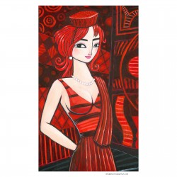 """Giclée Print on Canvas: """"Red"""""""
