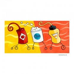"""3D Grafik: """"Ketchup, Mayo, Mustard"""""""