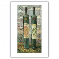 """Giclée Print on Fine Art Paper by Charles Kaufman: """"Bordeaux-Cabernet""""."""