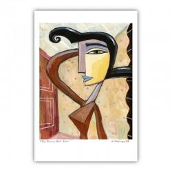 "Giclée Print on Fine Art Paper by Charles Kaufman:  ""The Woman Next Door""."