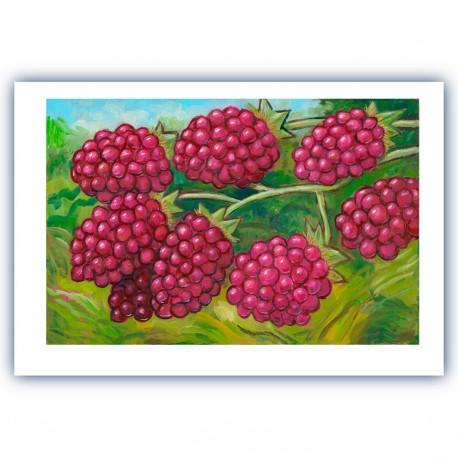 "Giclée-Druck auf Leinwand  by Charles Kaufman: ""Eight Red Berries""."