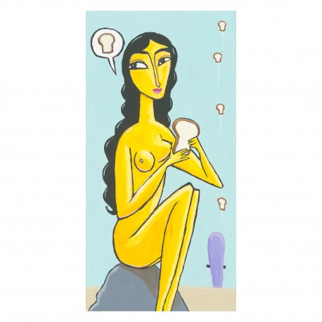 """Giclée Print on Fine Art Paper by Charles Kaufman: """"Woman and Toast""""."""