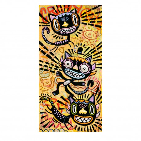 "Giclée-Druck FineArt Papier von Charles Kaufman: ""Crazy Cats""."