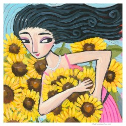 """3D Graphic: """"Picking Sunflowers"""""""