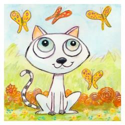 """3D Graphic: """"Happy Cat & Butterflies"""""""
