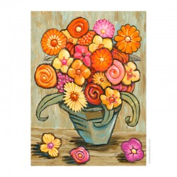 "3D Graphic: ""Bouquet of Flowers"""