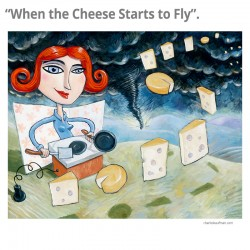 """3D Grafik: """"When the Cheese Starts to Fly"""""""