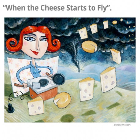 "3D Graphic: ""When the Cheese Starts to Fly"""