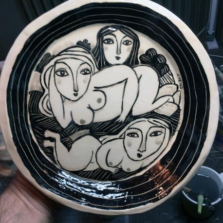 """Skulptur: """"Three Women"""""""