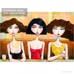 """Giclée-Druck auf Leinwand: """"Three in a Row, One in the Middle"""""""